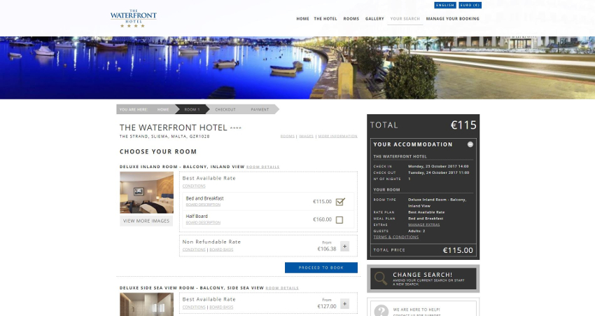 The Waterfront Hotel - Booking Engine